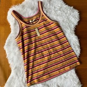 Madewell Striped Tank SIZE Large NWT